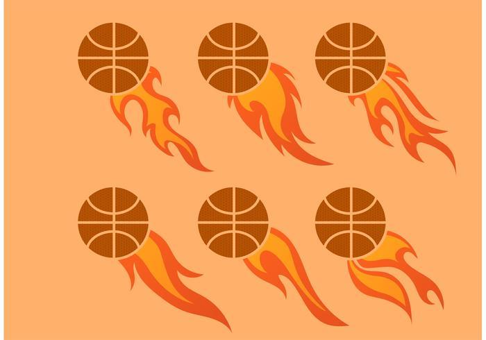 En annan Flaming Basket Vector Set