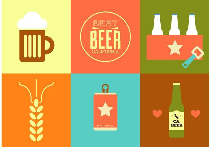 Kalifornien-Bier-Vektoren vektor