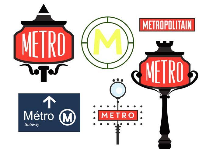 Paris Metro Sign Vectors