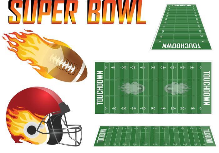 Super Bowl Vektor Set
