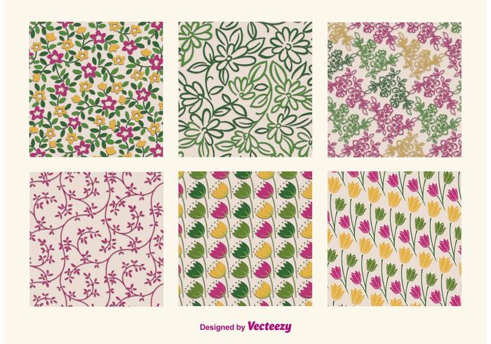 Blumen Retro Muster vektor