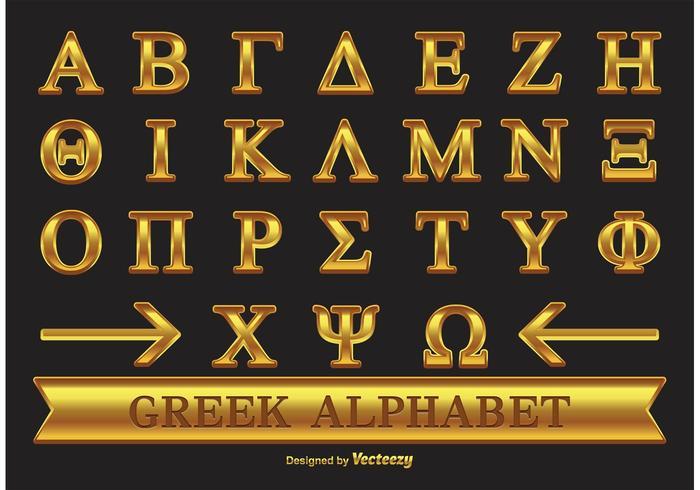 Gold Griechisches Alphabet vektor