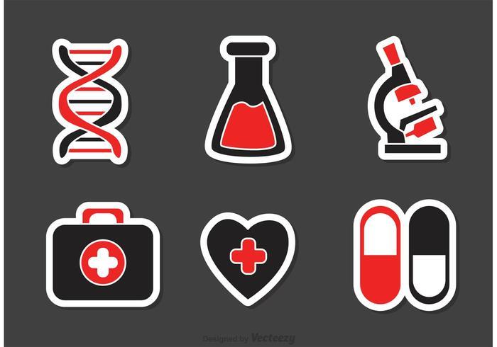 Set von medizinischen Icons Vektor