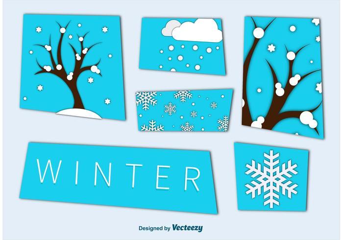 Winter Saison Ausschnitt Grafiken vektor
