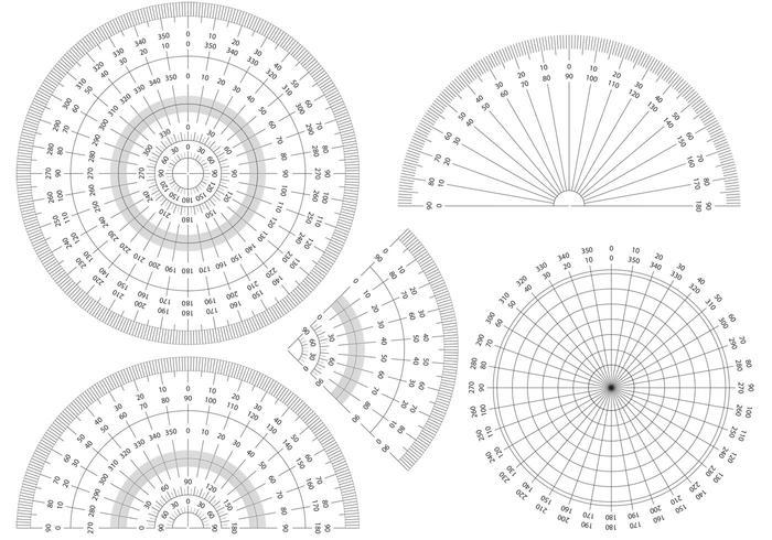 Protraktorführungsvektoren vektor