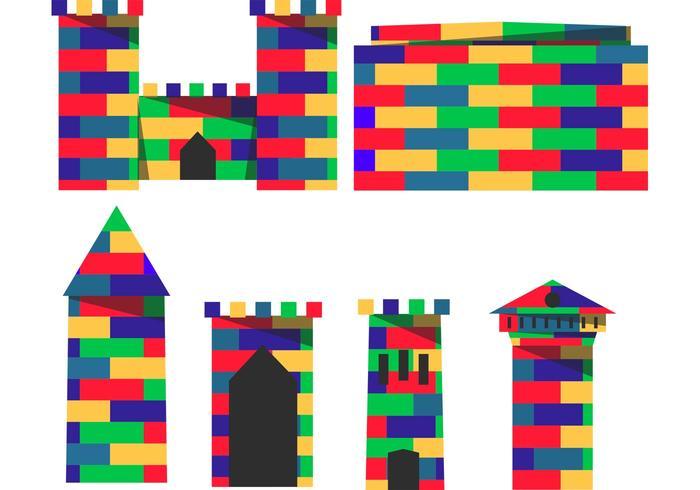 Baugröße Lego Fort Vektoren