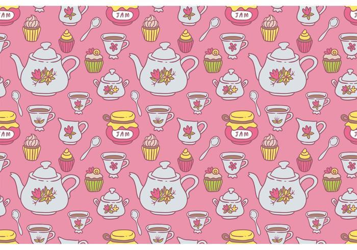 Free Tea Pattern Vektor