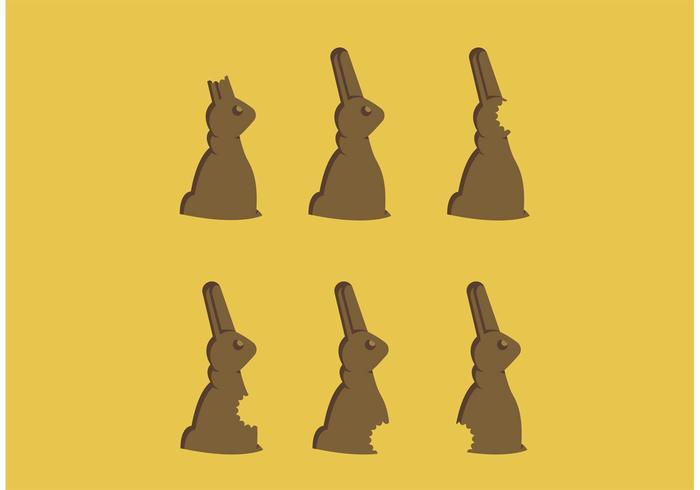 Chocolate Bunny Bites Freier Vektor
