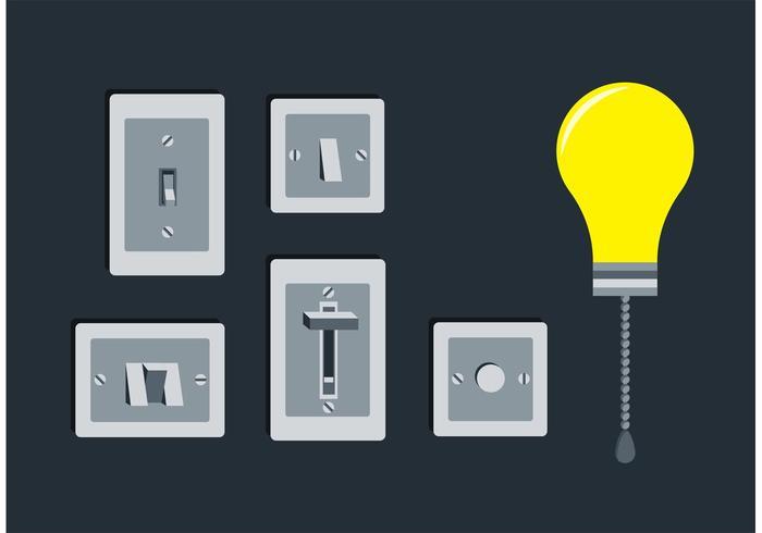 Lichtschalter freie Vektoren
