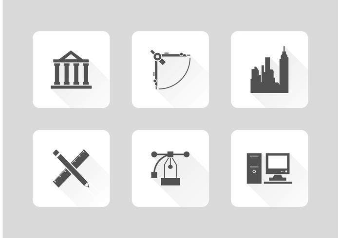 Freie Architektur Werkzeuge Vektor