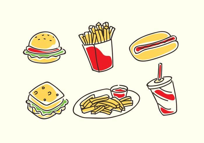 Fast Food Cartoon Vektor