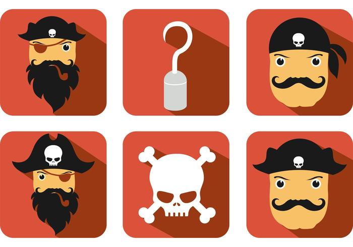 Piraten Vektor Icons