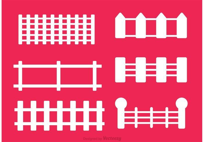 Set av staketvektorer vektor