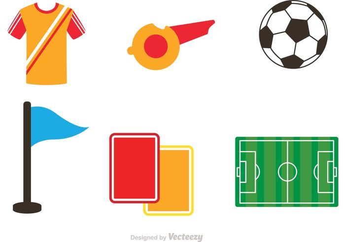 Fußball Icons Vektoren