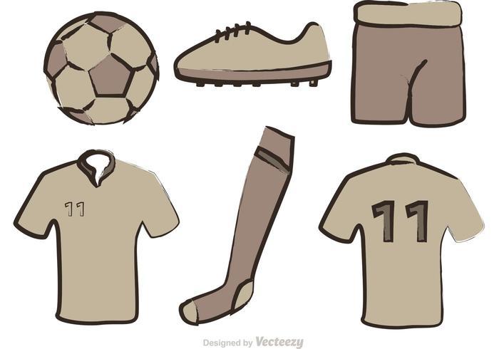 Fußball Ausrüstung Vektoren
