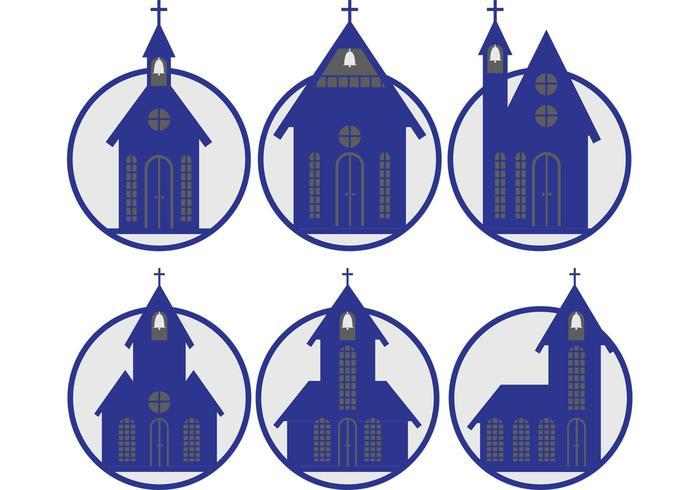 Blaue Landkirchenvektoren vektor