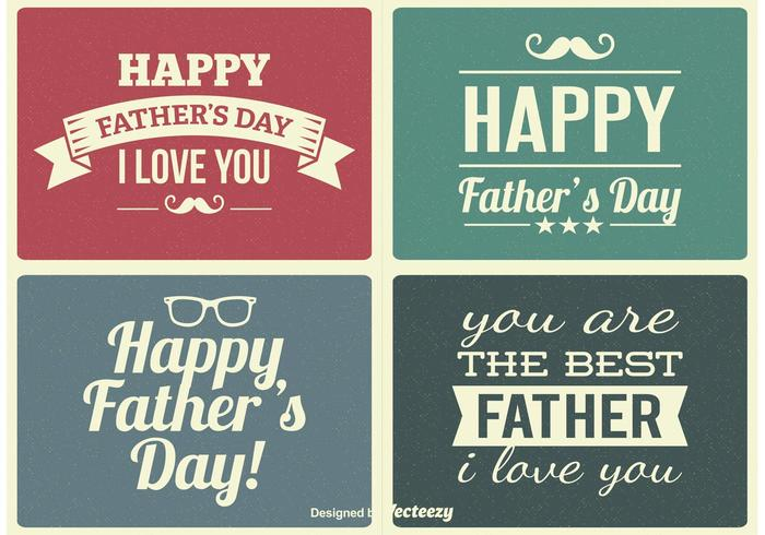 Vintage Father's Day Etiketter vektor