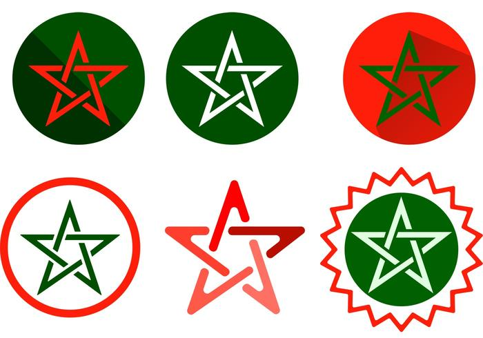 Marokko Stern Vektoren