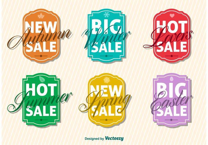 Saisonale große Verkaufszeichen Vektoren
