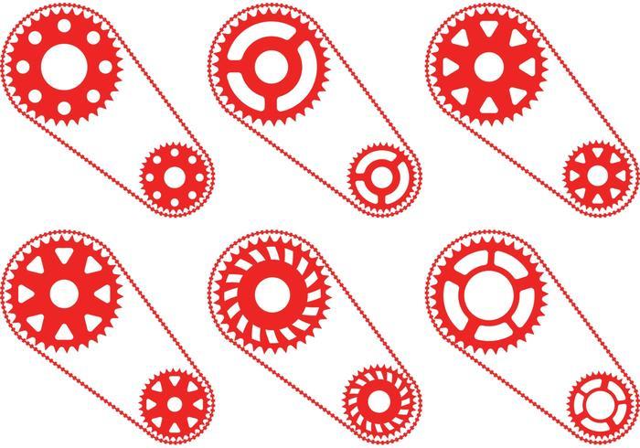 Red Bike Kettenrad Vektoren