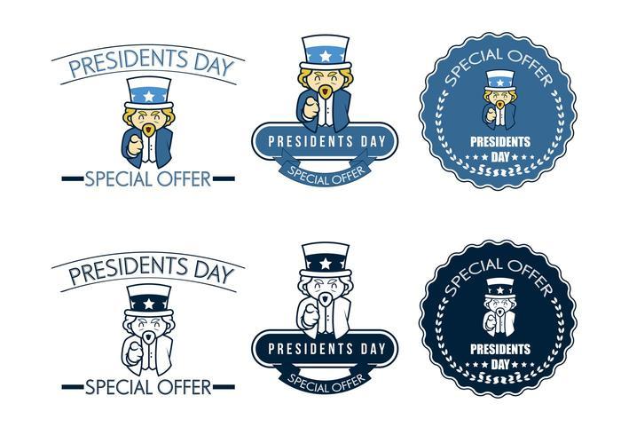 Specialtilbud för presidentens dagvektorer vektor