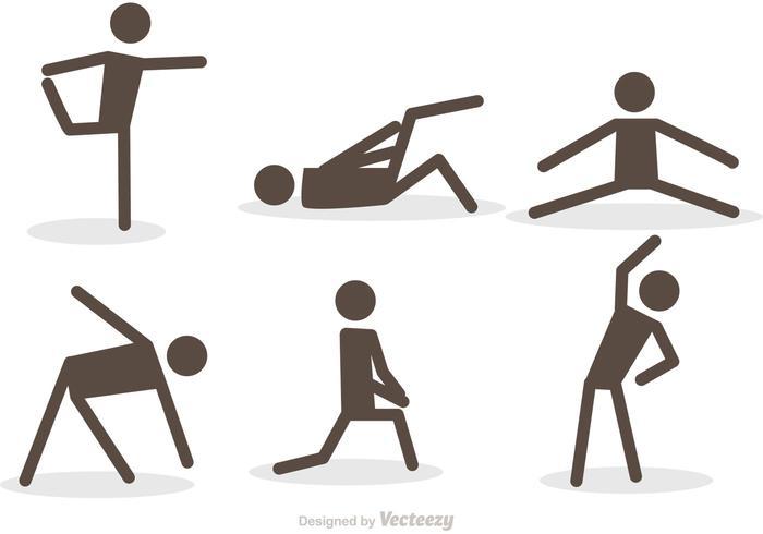 Workout Stick Figur Ikoner Vector Pack