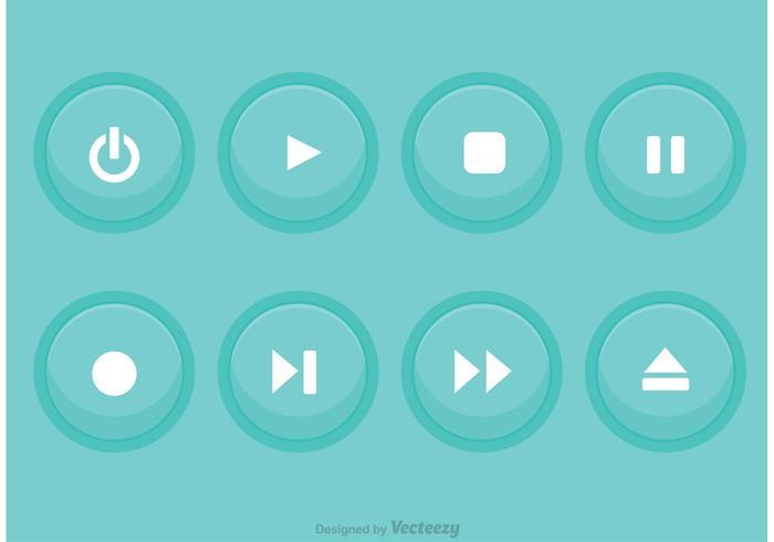 Media Player Blue Button Vektoren