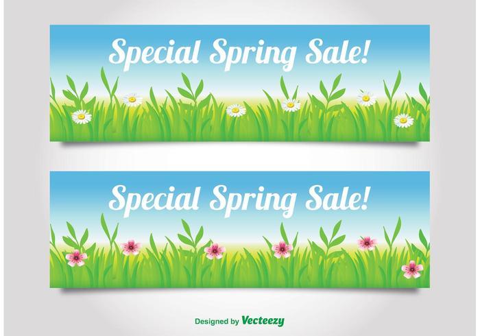 Frühlingsverkauf Banner vektor