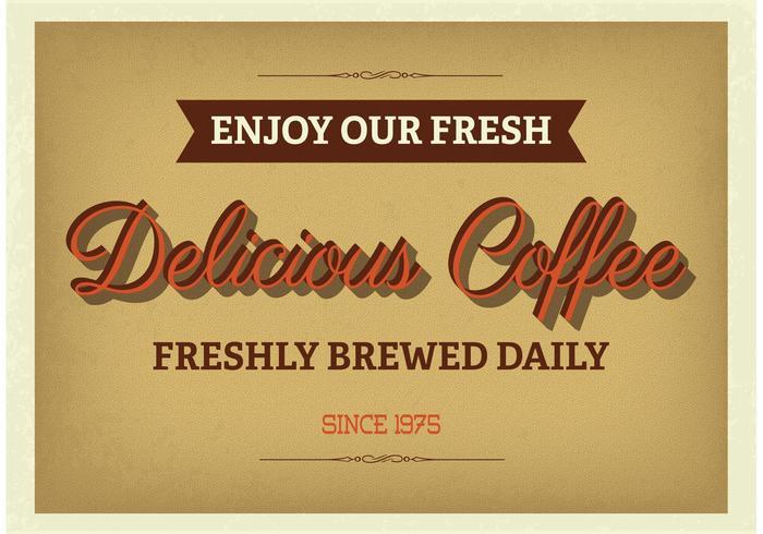Weinlese Typographisches Kaffee-Plakat vektor