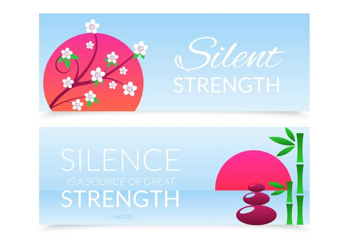 Free Silent Strength Vector Banner