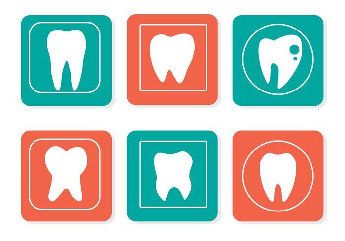 Freie Vektor Zähne