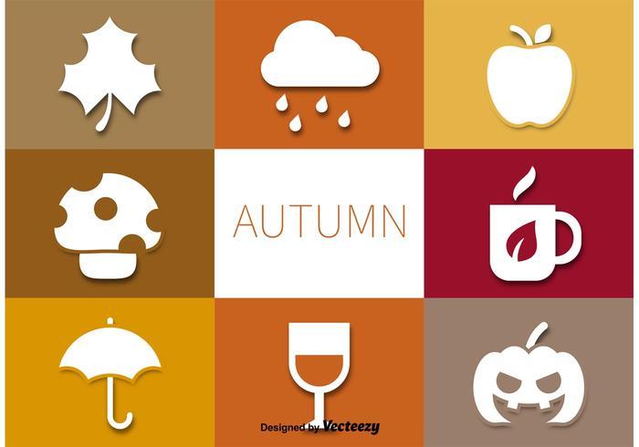 Herbst Vektor Piktogramme gesetzt