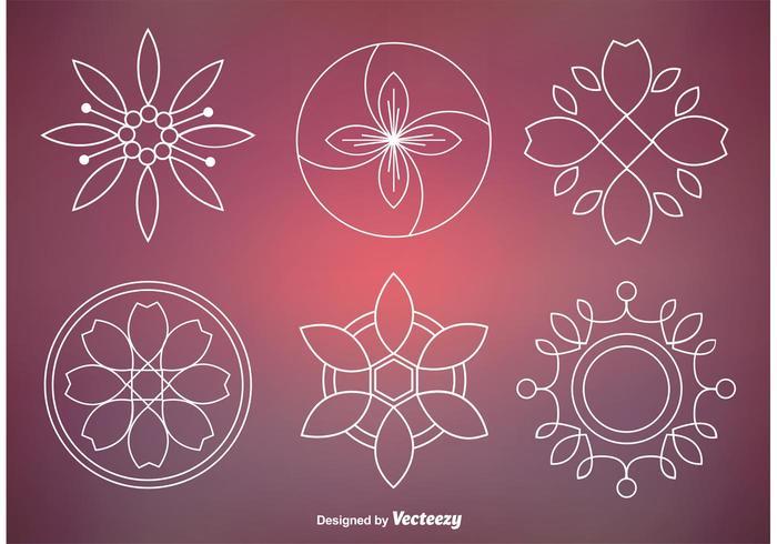 Abstrakte Blumenverzierung Vektoren