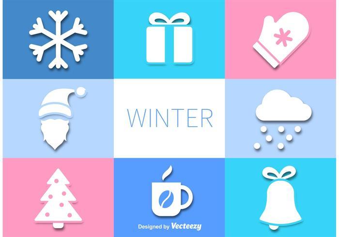 Vektor vinter ikoner