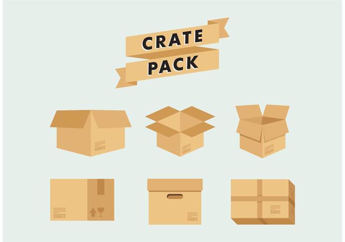 Kasse lagerförpackning vektor gratis