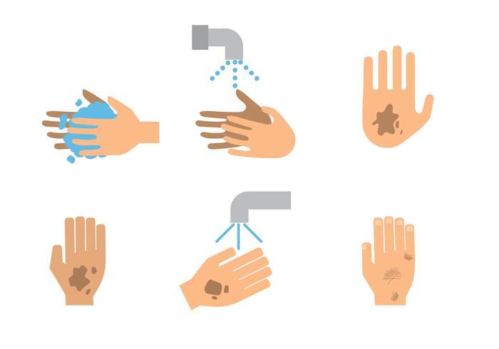 Vektor verschmutzte Hand Symbole