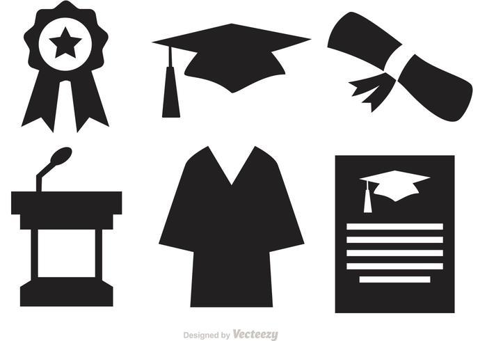 Silhouette Graduierung Vektor Icons