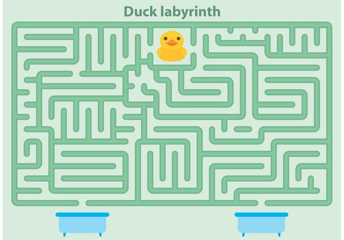 Gummi Duck Maze Vector