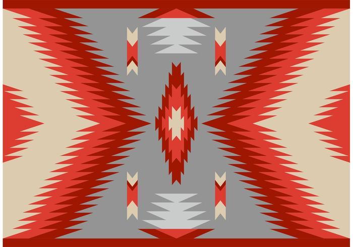 Antik stil Navajo Matta Mönster vektor