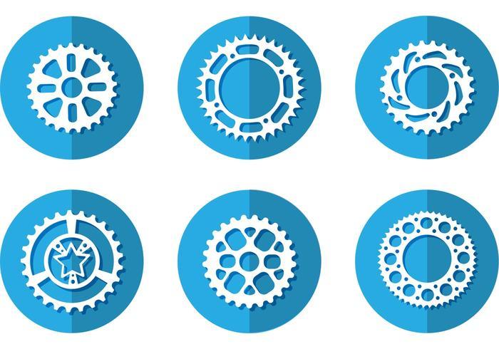 Bike Kettenrad Vektor Icons