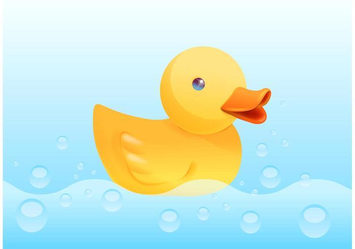 Free Yellow Rubber Duck Vektor