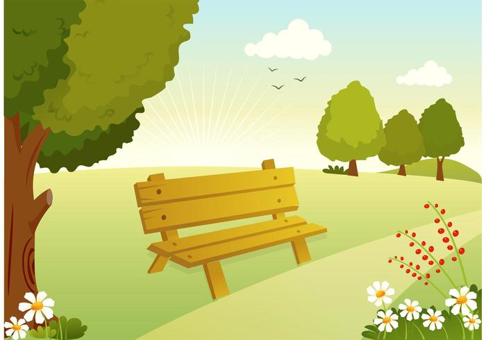 Free Vector Woodland Pfad Illustration