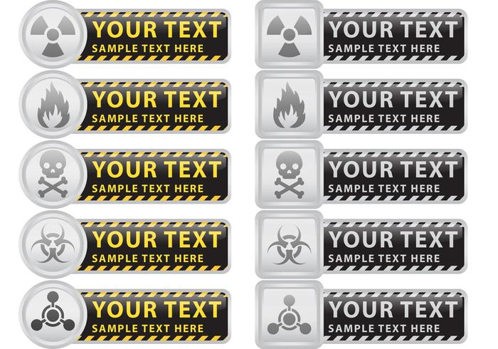Förebyggande och försiktighet Vector Banners