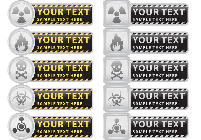 Prävention und Vorsicht Vektor Banner