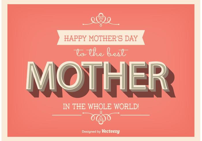 Typografisches Muttertag Poster vektor