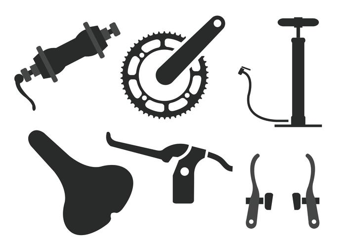 Fahrradteil-Vektoren vektor
