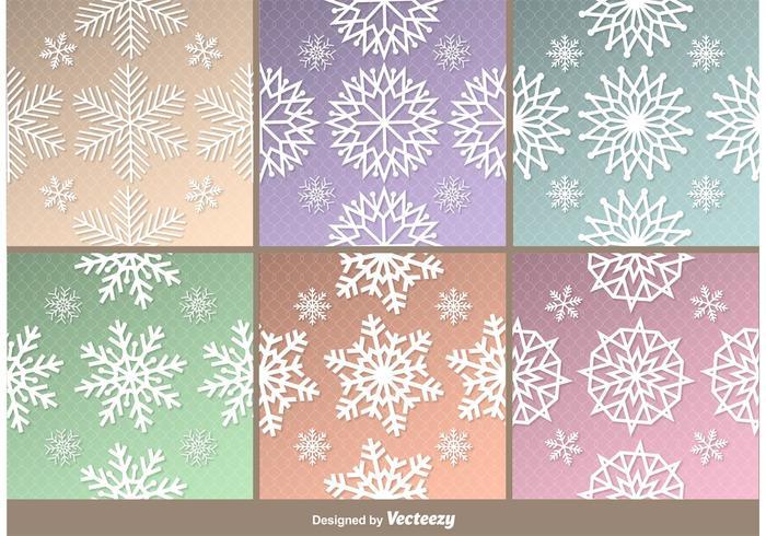Frosna Snowflakes Patterns vektor