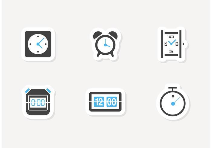 Freie Zeit Und Uhr Vektor Icons