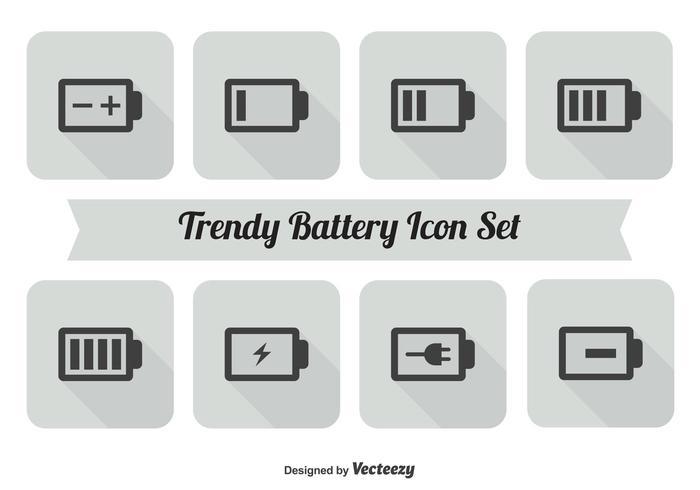 Batterie Icon Set vektor