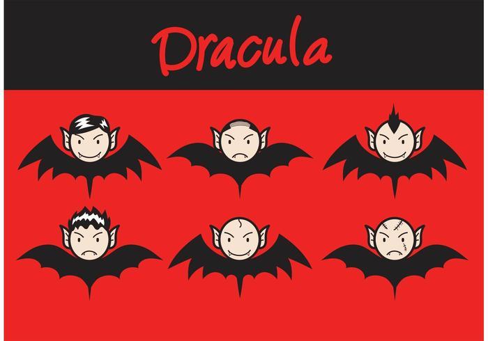 Dracula Fledermausvektoren vektor